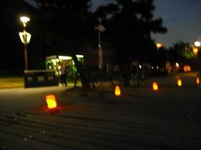 遊歩道もライトアップ♪